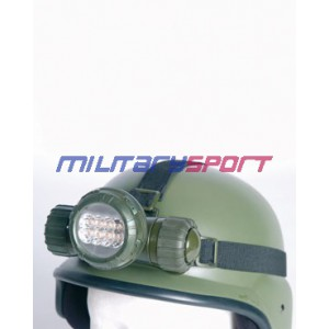 Miltec  KOPFLAMPE 8 LED ARMY OLIV (налобный фонарик)