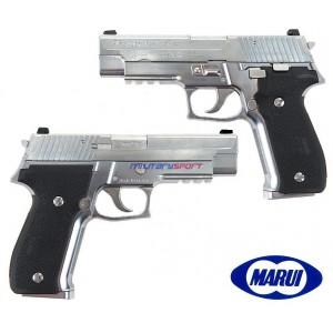 Страйкбольный пистолет Marui SIG P.226 RAIL CHROME STAINLESS