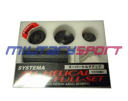 SYS ZS-02-18 набор шестерён All helical gear full set super torque up type for Marui