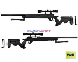 Страйкбольная винтовка Well MB-05D Metal sniper rifle (сошки и оптика в комплекте)