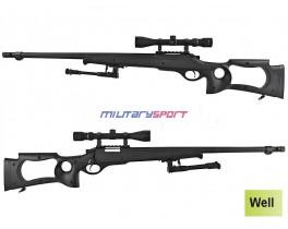 Страйкбольная винтовка Well MB-10D Spring Sniper Rifle (оптика и сошки в комплекте)