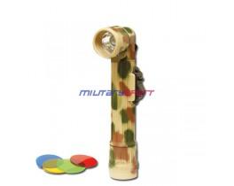 Mil-Tec Г-образный фонарь (desert) со сменными стёклами (длина 16см,диаметр линзы 2,9см) 36114